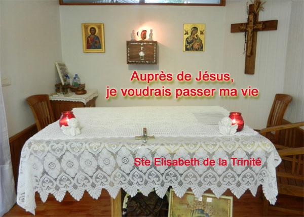 Ellisabeth-de-la-Trinite-2  auprès de Jésus Hostie