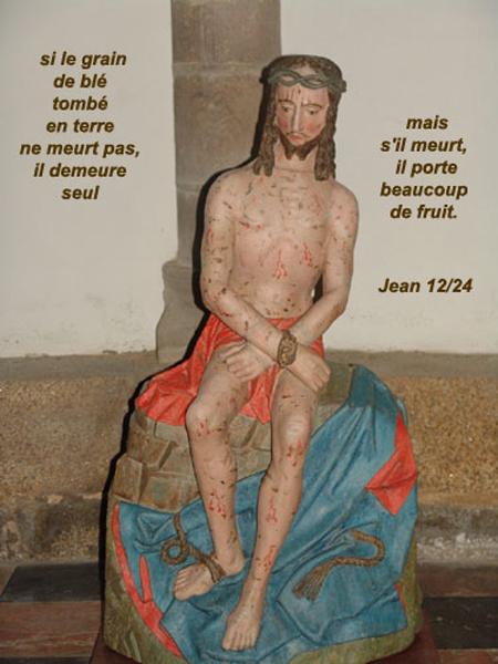 jean-12-24 Si le grain de blé tombé en terre ne meurt pas .....