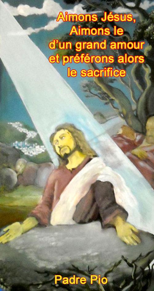Padre-Pio-Aimons Jésus d'un grand amour