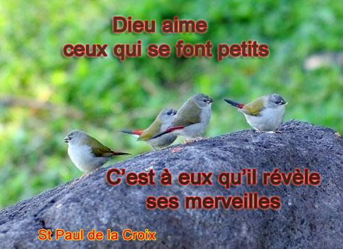 St-Paul-de-la-Croix-Dieu aime ceux qui...