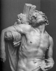 Bernini saint sebastian detail