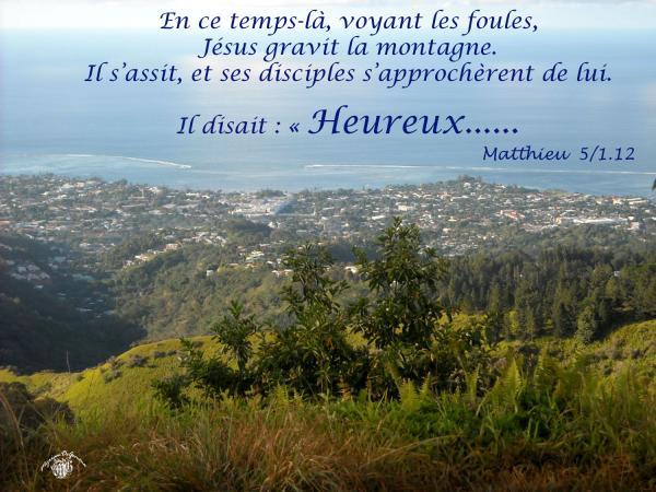 Matthieu 5 1 12