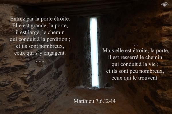 Matthieu 7 6 12 14aw