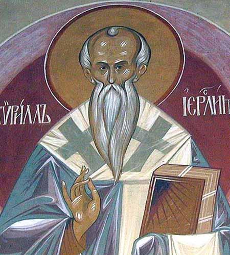 San cirillo di gerusalemme
