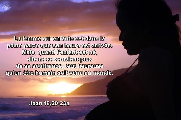 Commentaire de Jean 16,20-23a