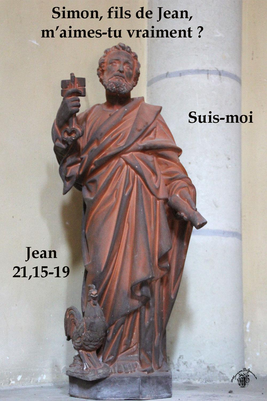PIERRE M'AIMES TU - Commentaire de Jean 21,15-19