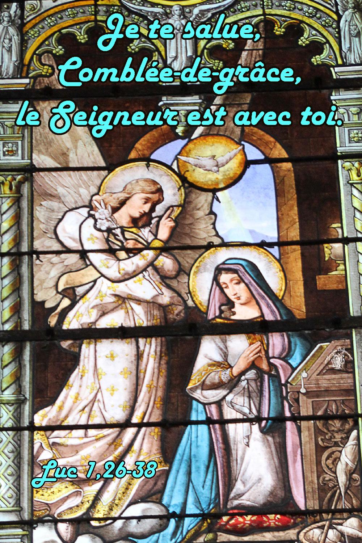 Luc 1,26-38. (Annonciation)....