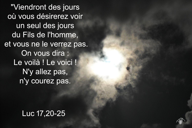 Commentaire de Luc 17,20-25.