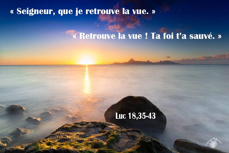 commentaire de Luc 18,35-43