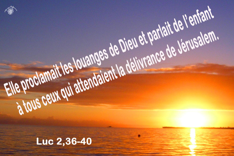 Commentaire de Luc 2,36-40