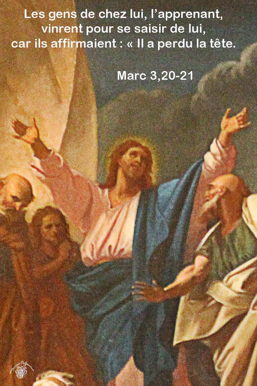 Commentaire de Marc 3,20-21