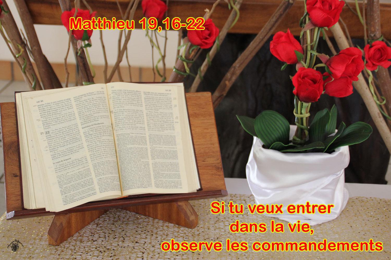 Commentaire Matthieu 19,16-22