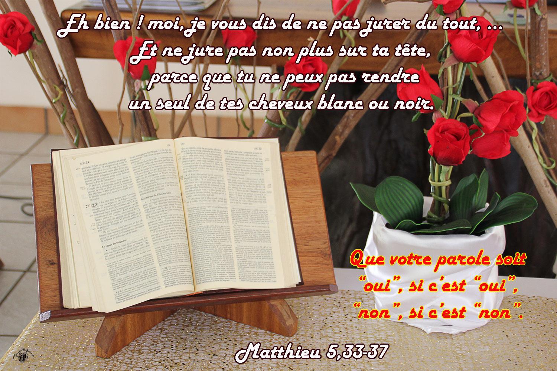 Commentaire de Matthieu 5,33-37